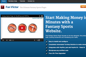 Review for FanVictor.com – Fantasy Sports Plug-in for WordPress and PHPFox