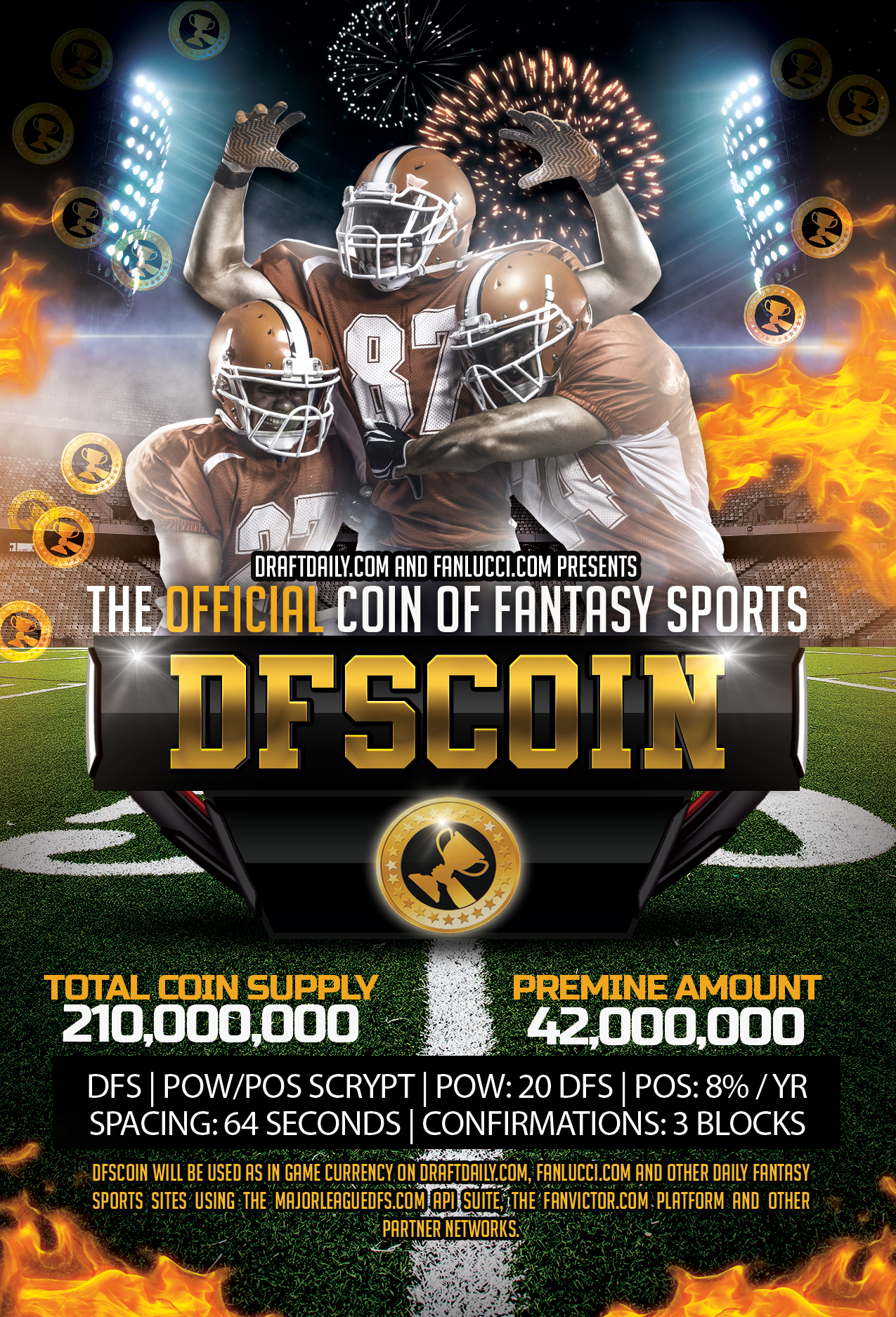 DFSCoin is the official crypto coin for fantasy sports